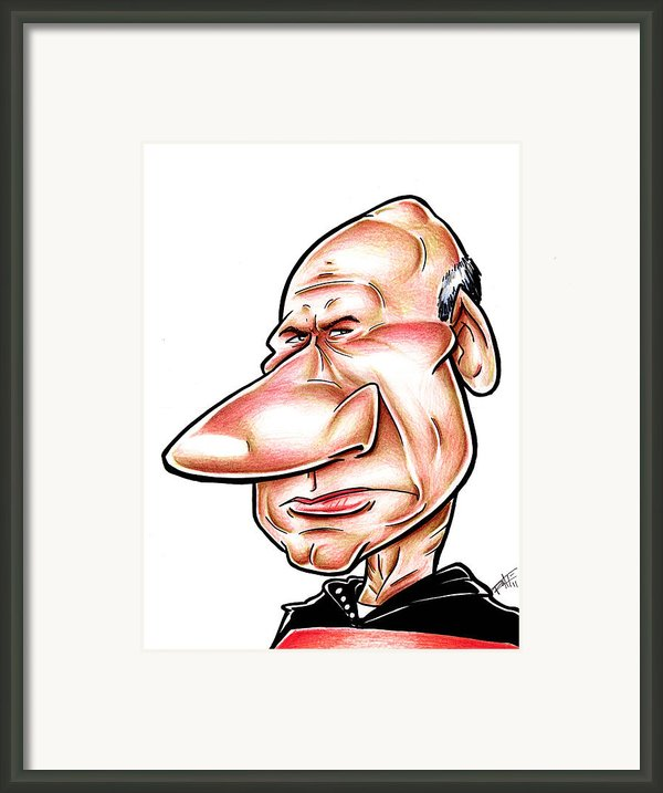 Catian Jean Luc Picard Framed Print By Big Mike Roate