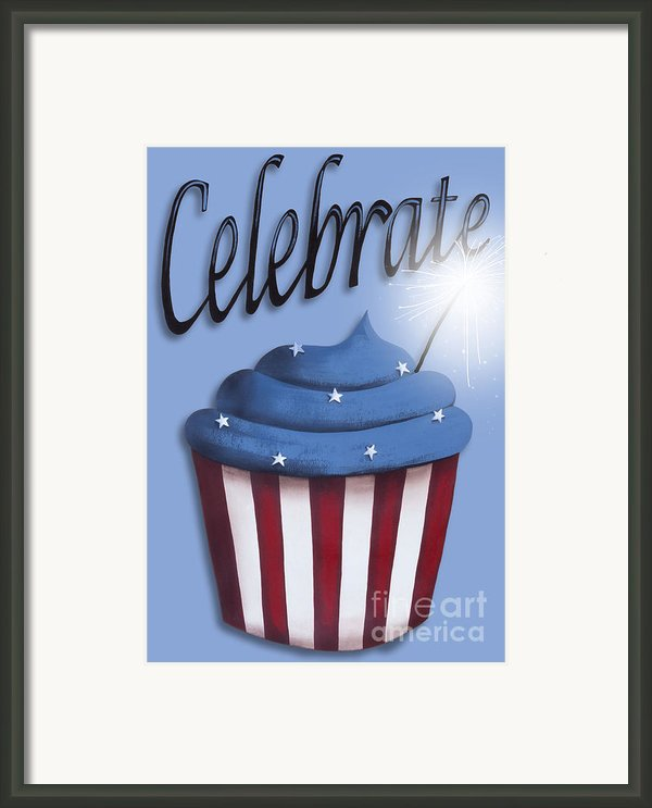 Celebrate The 4th / Blue Framed Print By Catherine Holman