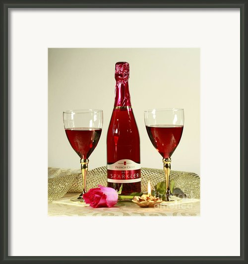 Celebrate With Sparkling Rose Wine Framed Print By Inspired Nature Photography By Shelley Myke