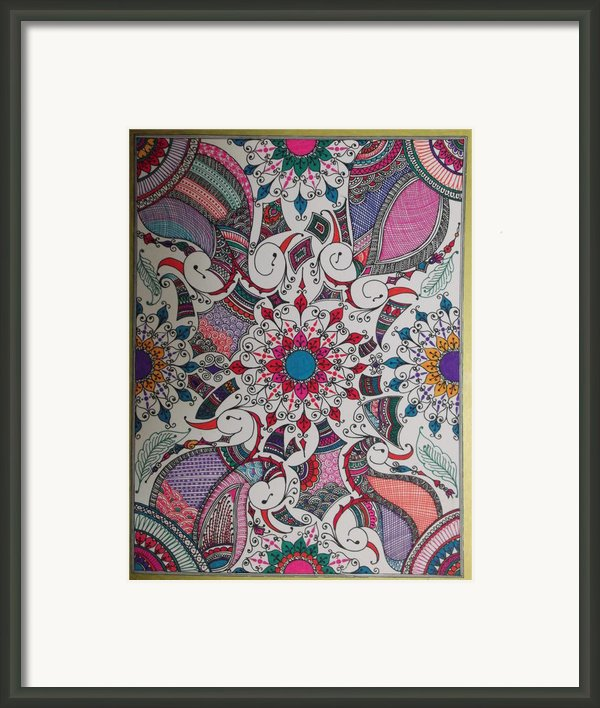 Celebration Of Design Framed Print By M Ande