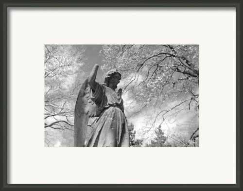 Cemetery Angel Framed Print By Jennifer Lyon