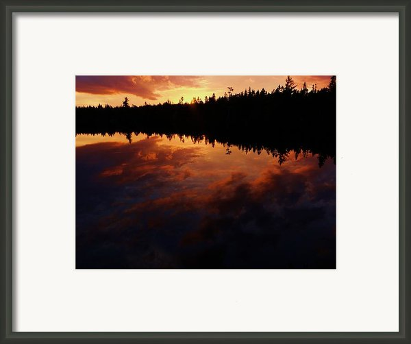 Center Pond Baxter State Park Framed Print By Tim  Canwell