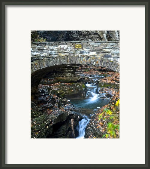 Central Cascade Framed Print By Robert Harmon