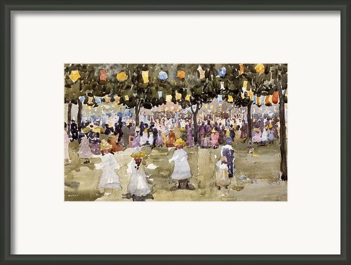 Central Park  New York City  July Fourth  Framed Print By Maurice Prendergast