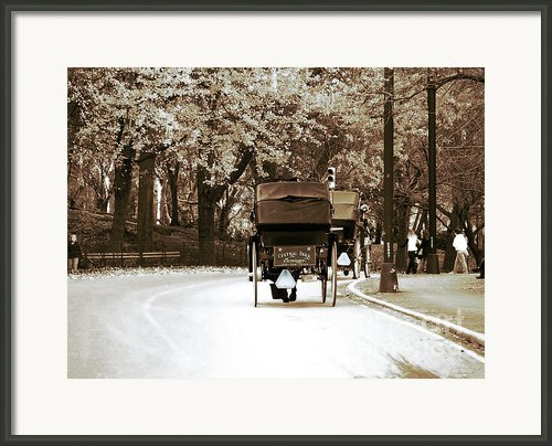 Central Park Ride Framed Print By John Rizzuto