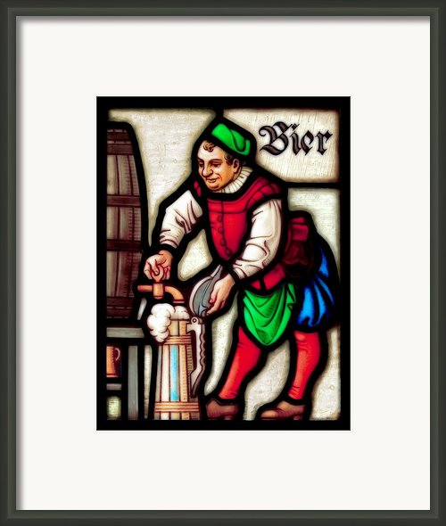 Century-old German Stained Glass Framed Print By Lar Matre