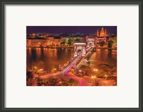 Chain Bridge Framed Print By Ayse Deniz