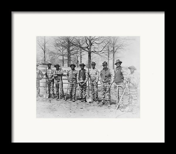 Chain Gang C. 1885 Framed Print By Daniel Hagerman