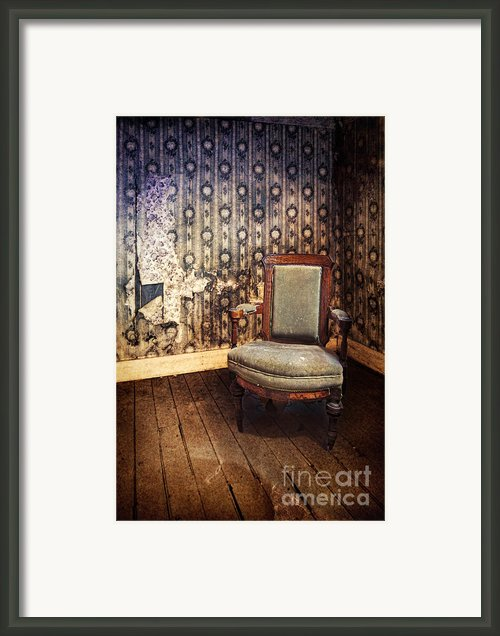 Chair In Abandoned Room Framed Print By Jill Battaglia