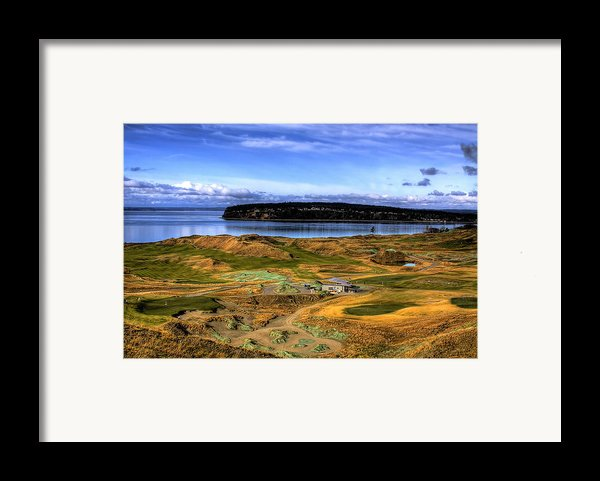 Chambers Bay Golf Course Framed Print By David Patterson
