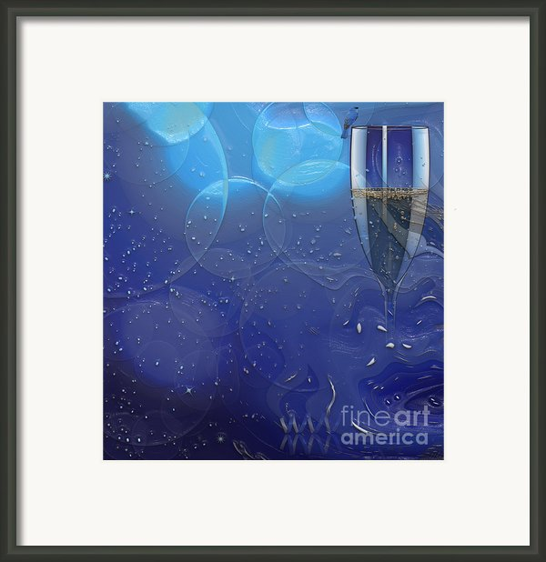 Champagne Blue  Framed Print By Liane Wright
