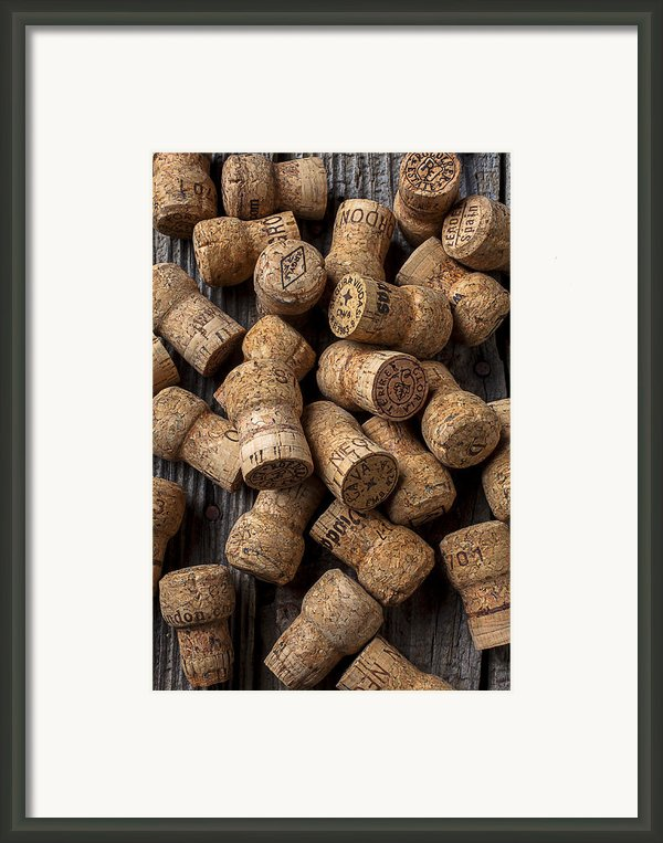 Champagne Corks Framed Print By Garry Gay