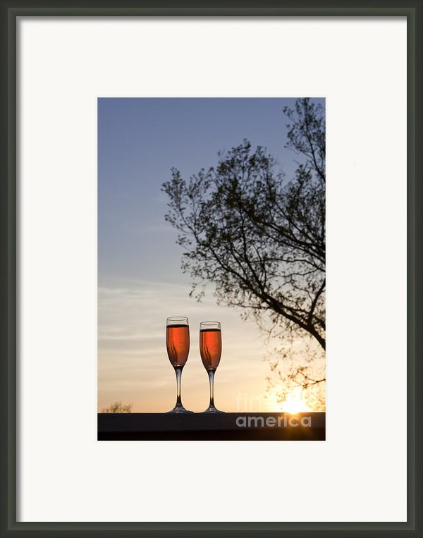 Champagne For Two Framed Print By Kay Pickens