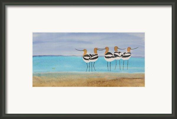 Chance Encounter At The Beach Framed Print By Carolyn Doe