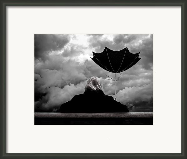 Chance Of Rain   Broken Umbrella Framed Print By Bob Orsillo
