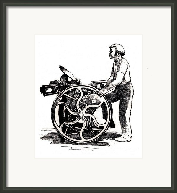 Chandler And Price Old Style Framed Print By Dale Michels