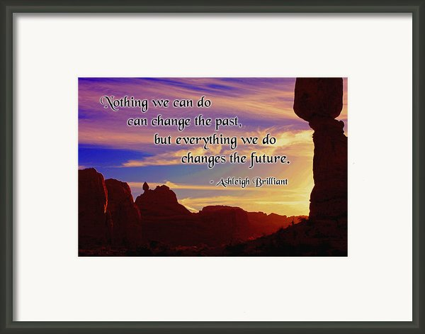 Changing The Future Framed Print By Mike Flynn