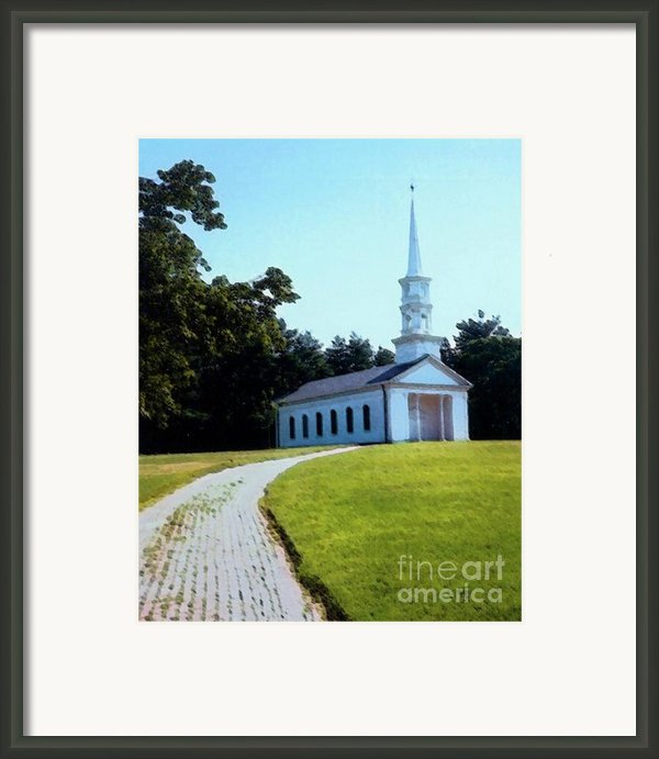 Chapel At The Wayside Inn Framed Print By Desiree Paquette