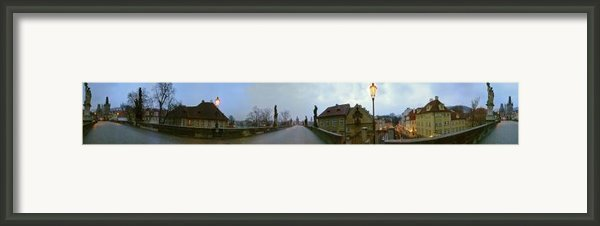 Charles Bridge 360 Framed Print By Gary Lobdell