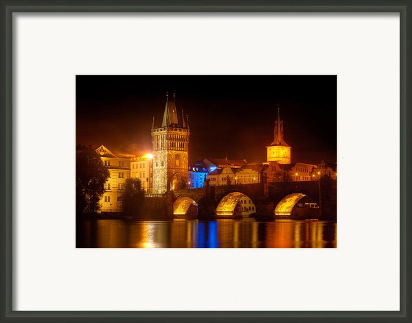 Charles Bridge Ii- Prague Framed Print By John Galbo