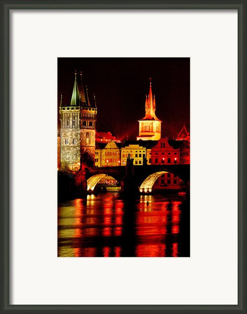 Charles Bridge Framed Print By John Galbo