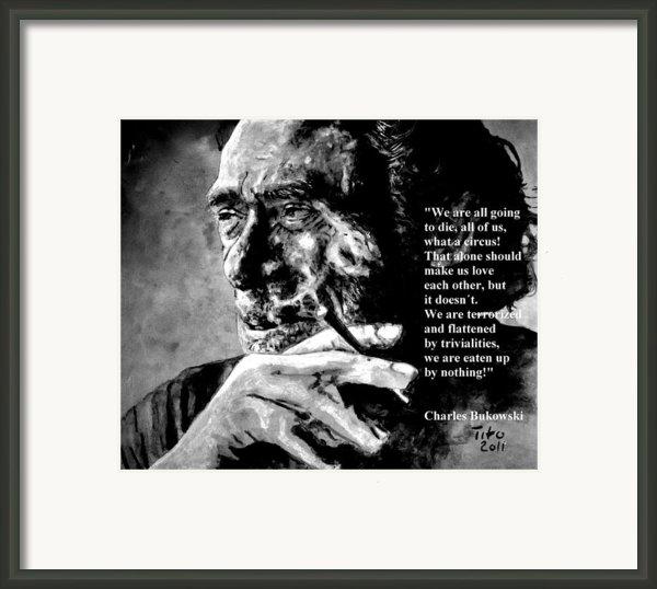 Charles Bukowski Framed Print By Richard Tito