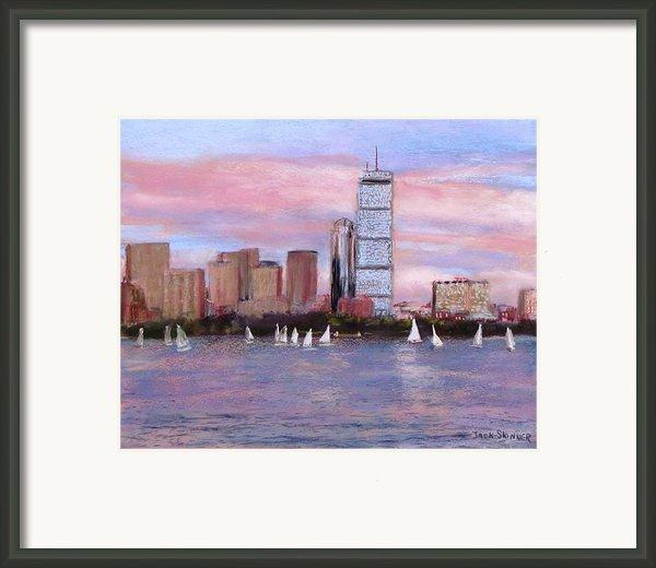 Charles River Boston Framed Print By Jack Skinner