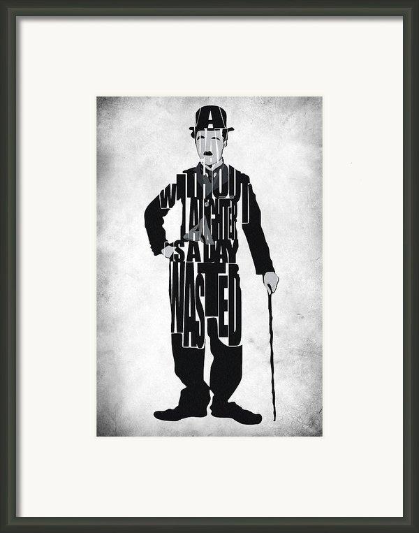 Charlie Chaplin Typography Poster Framed Print By Ayse Deniz