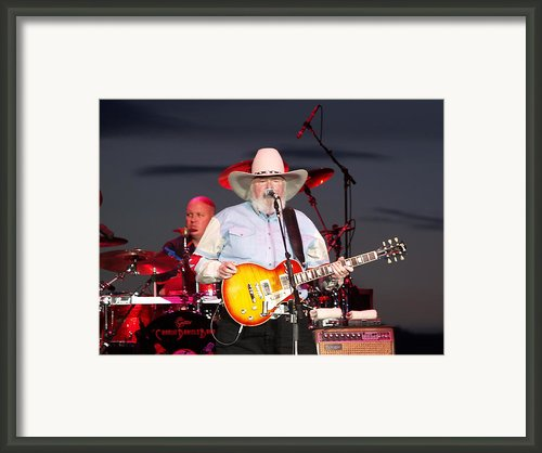 Charlie Daniels Framed Print By Bill Gallagher