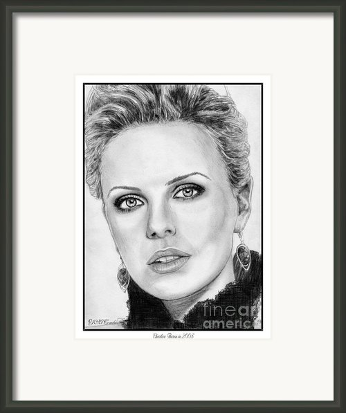 Charlize Theron In 2008 Framed Print By J Mccombie