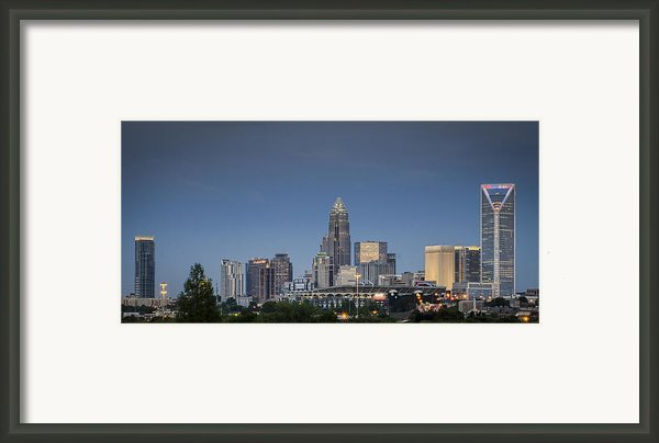 Charlotte Skyline - Clear Evening Framed Print By Brian Young