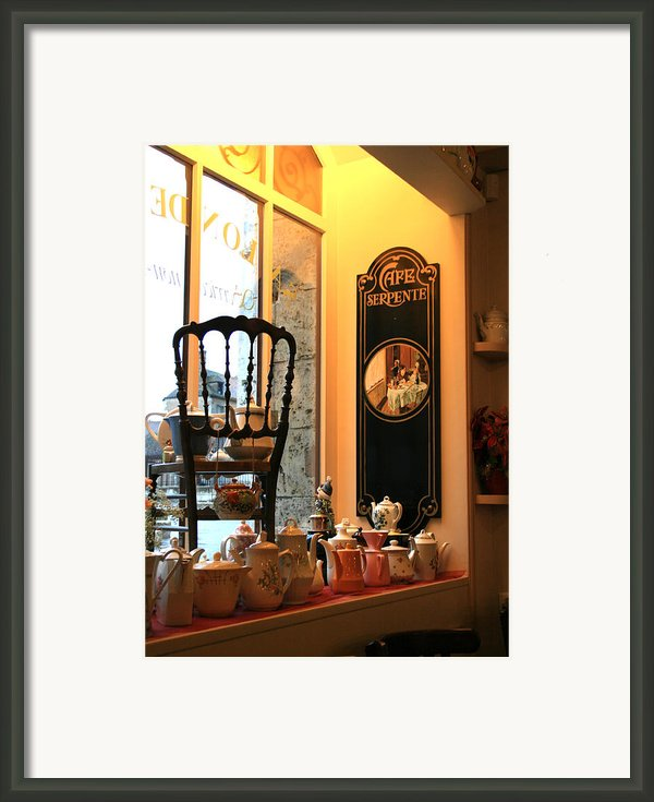 Chartres Cafe Framed Print By A Morddel