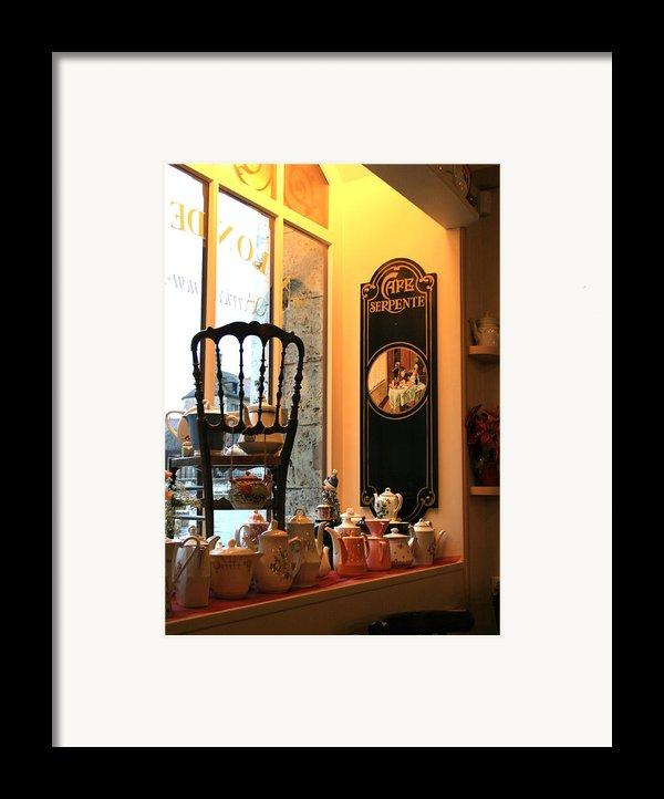 Chartres Cafe Framed Print By A Morddel