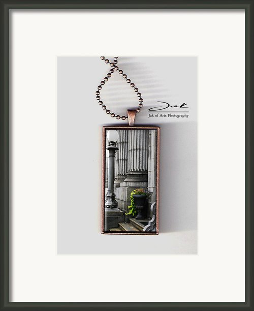 Chasing Away The Gray Handcrafted Necklace Framed Print By Jak Of Arts Photography