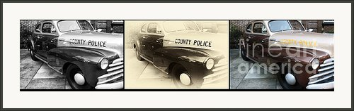 Chatham County Police Collage Framed Print By John Rizzuto