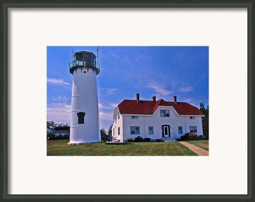 Chatham Light Framed Print By Skip Willits