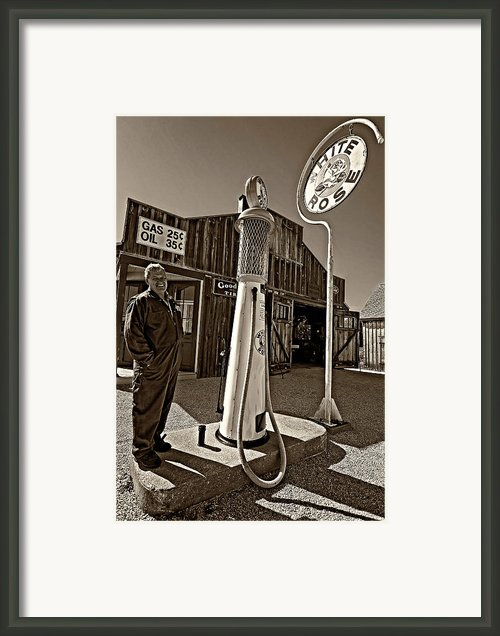 Check Your Oil Sir Monochrome Framed Print By Steve Harrington
