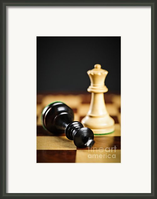 Checkmate In Chess Framed Print By Elena Elisseeva
