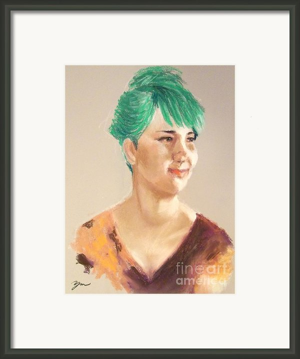 Cheerful Lady Framed Print By Yoshiko Mishina