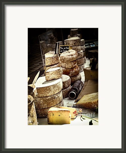 Cheeses On The Market In France Framed Print By Elena Elisseeva