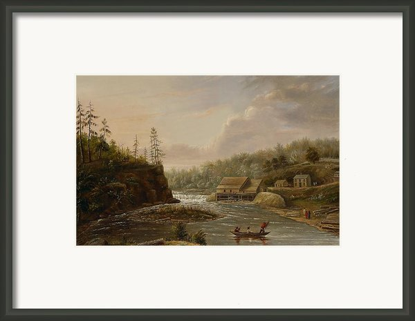 Cheevers Mill On The St. Croix River Framed Print By Henry Lewis