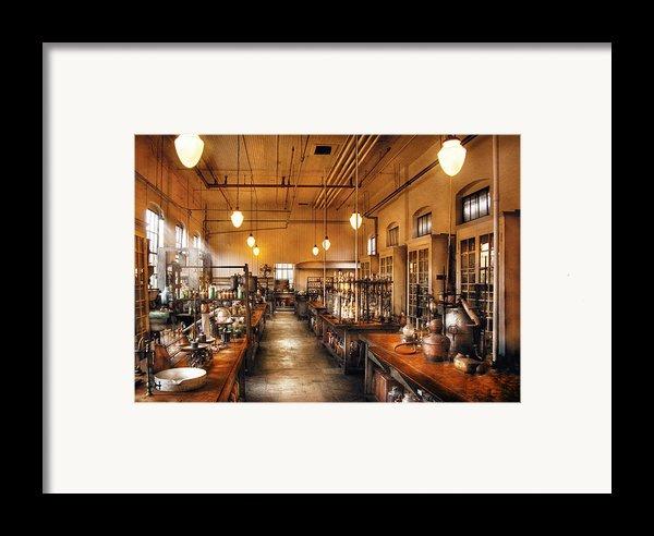 Chemist - The Chem Lab Framed Print By Mike Savad