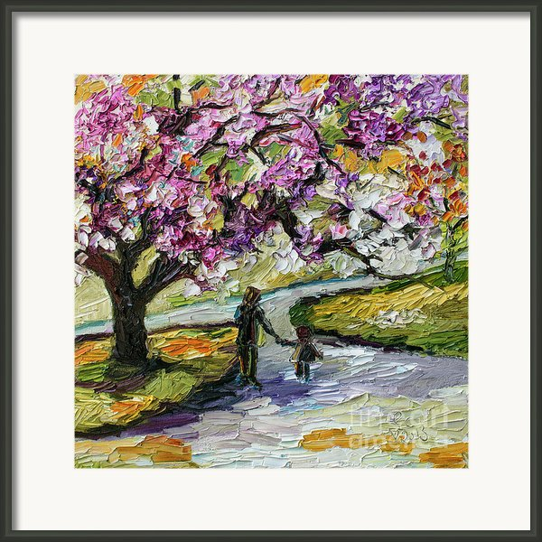 Cherry Blossom Tree Walk In The Park Framed Print By Ginette Fine Art Llc Ginette Callaway