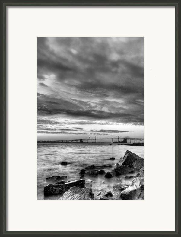 Chesapeake Mornings Bw Framed Print By Jc Findley