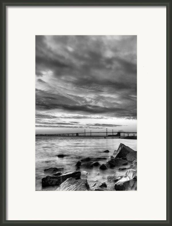 Chesapeake Mornings Bw Framed Print By Jc Findley