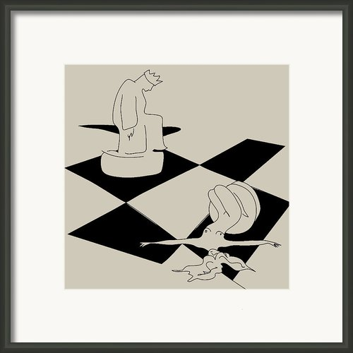 Chess And Art Framed Print By Frida  Kaas