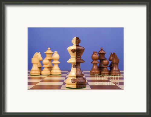 Chess Corporate Merger Framed Print By Colin And Linda Mckie
