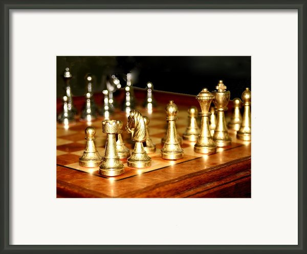 Chess Set  Framed Print By Diane Merkle