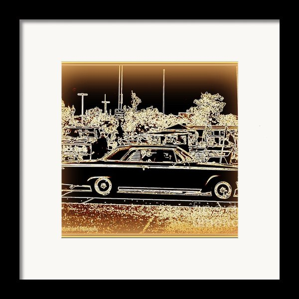 Chevy Glow Framed Print By Bobbee Rickard