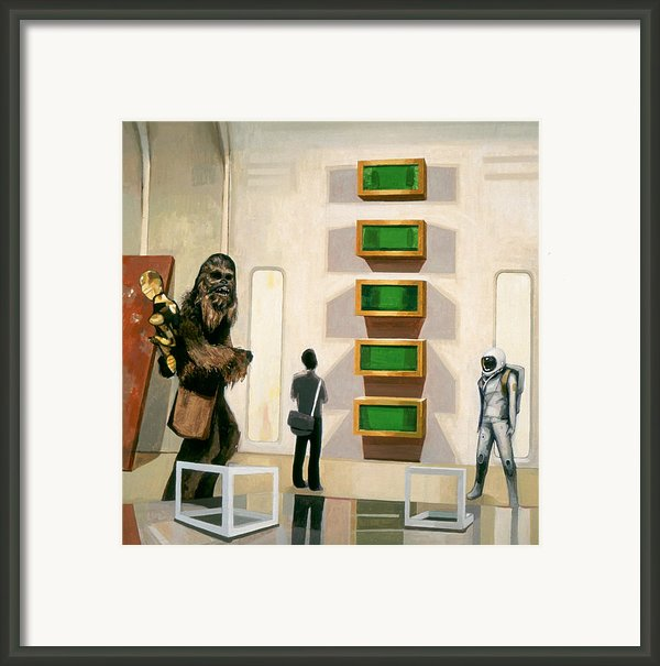 Chewbacca In Cloud City With Art Framed Print By Scott Listfield